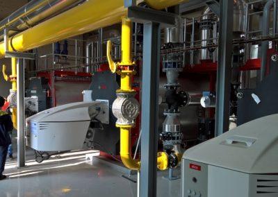 salle des chaudières à gaz